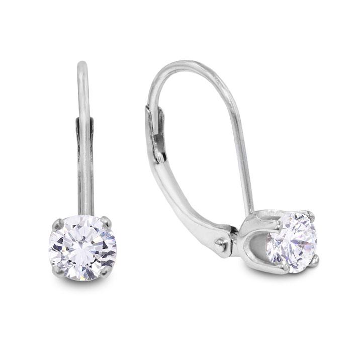 1 4 Carat Diamond Drop Earrings In 14k White Gold