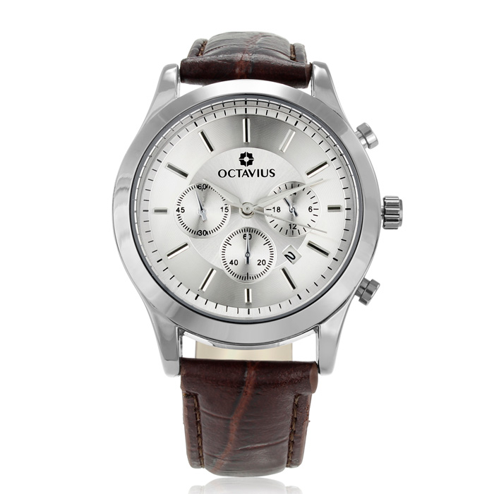Octavius Men's Old Broad Watch - Brown