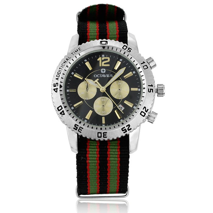 Octavius Men's Classic Palmer Watch - Green/Black