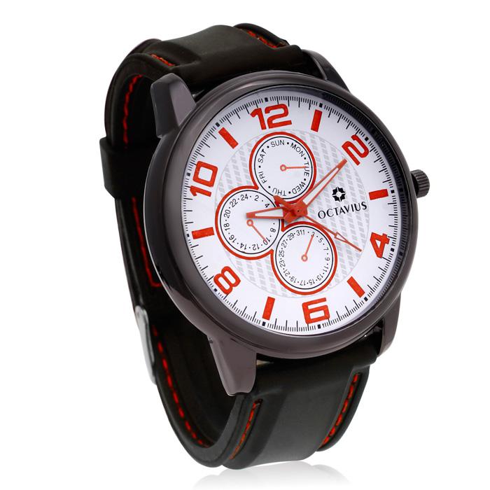 Octavius Men's Healdsburg Watch - Red