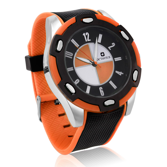 Octavius Men's Formula II Watch - Orange
