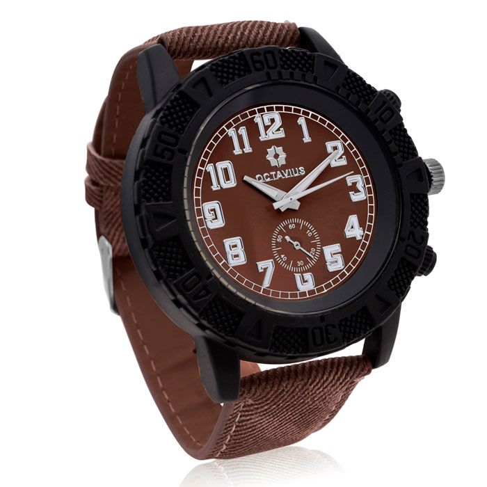 Octavius Men's The Luthor Watch - Brown