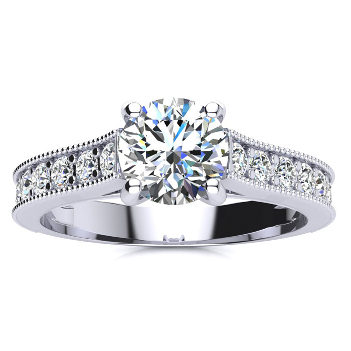 1.50ct Diamond Engagement Ring in 14k White Gold