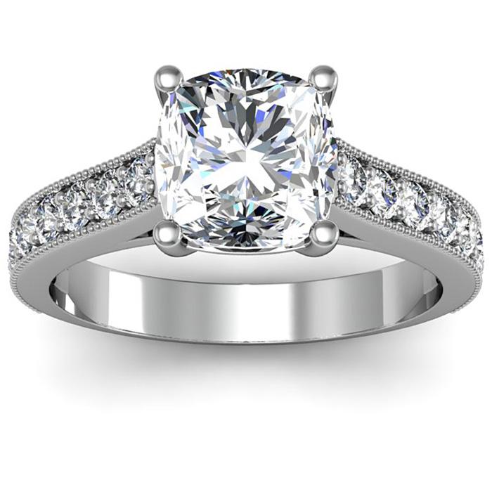 2ct Cushion Cut Diamond Engagement Ring
