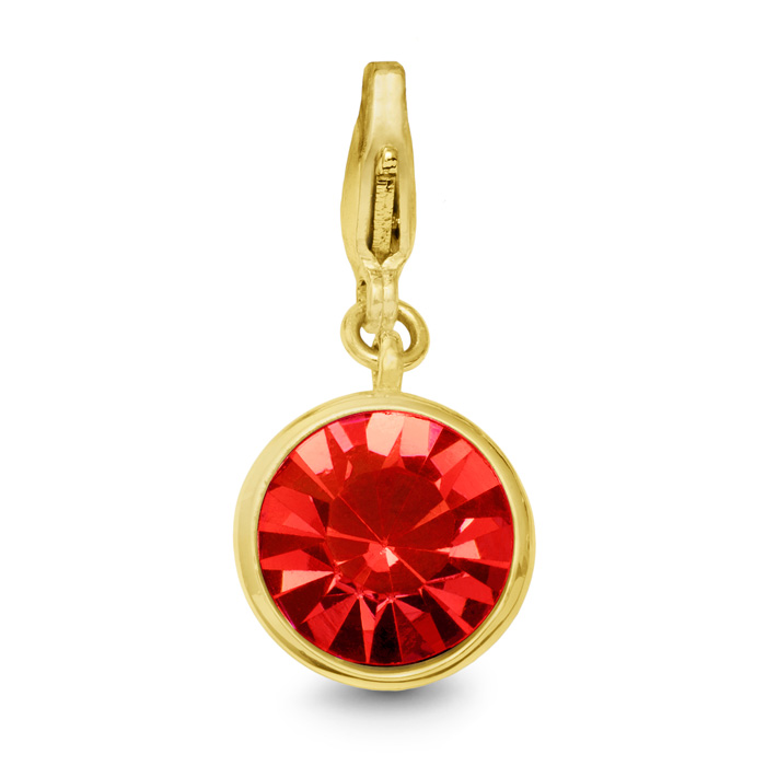 Ruby Crystal Birthstone, For July Babies-Yellow
