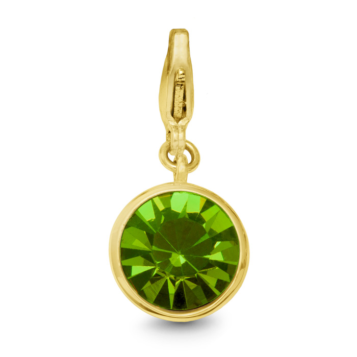 Peridot Crystal Birthstone, For August Babies-Yellow