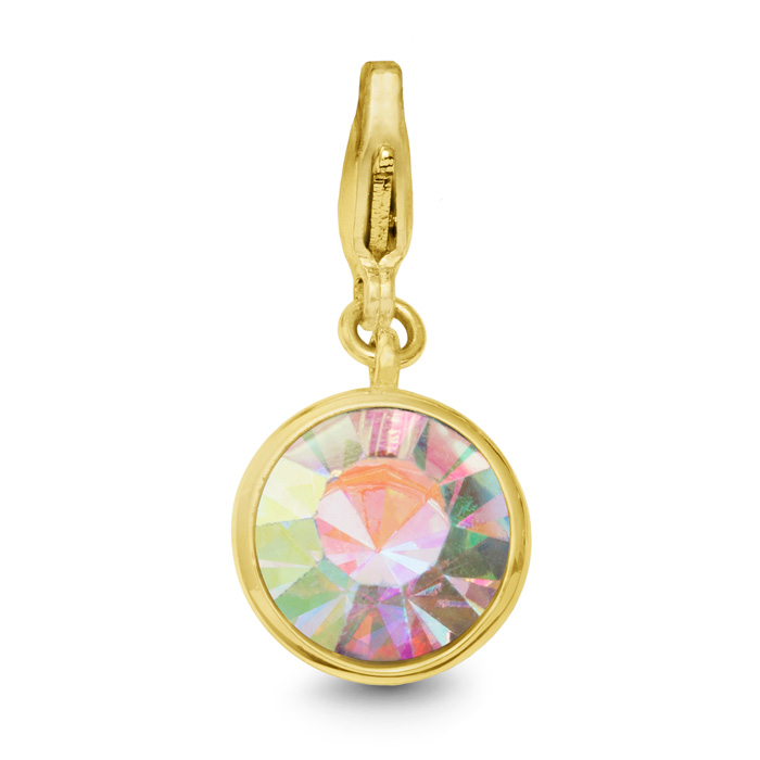Opal Crystal Birthstone, For October Babies-Yellow