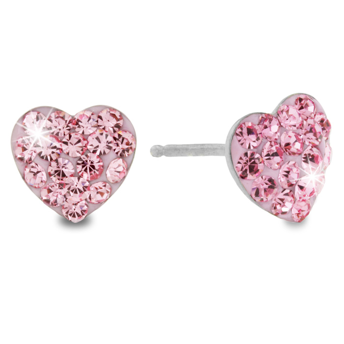 Heart Shaped Swarovski Crystal Elements Earring