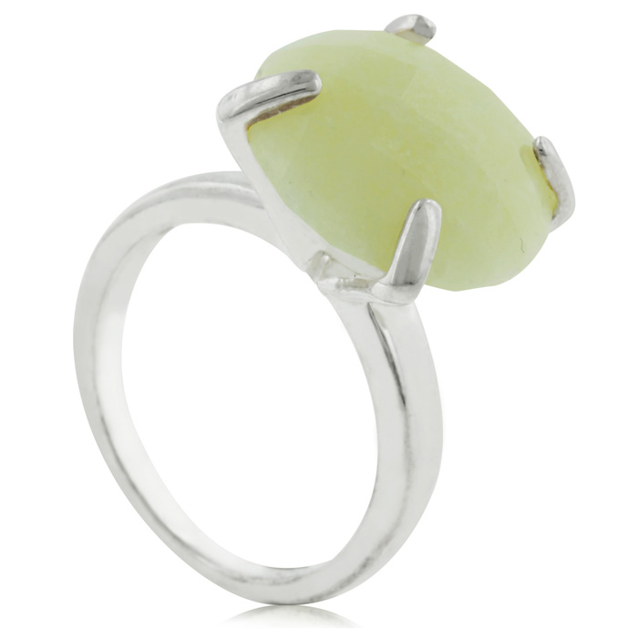 Quartzite Statement Ring In Sterling Silver