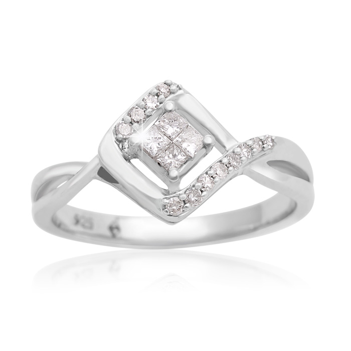1/5 Carat Diamond Statement Ring In Sterling Silver - SPECIAL PURCHASE CLOSEOUT, LIMITED SUPPLY! thumbnail