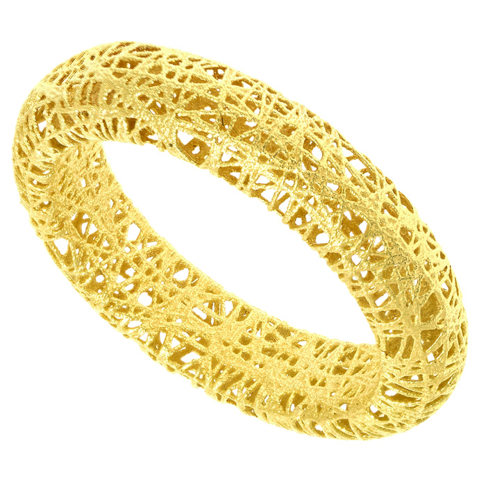 14k Yellow Gold 5mm Mesh Ring
