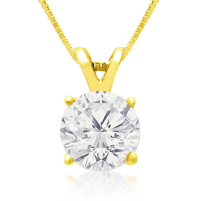 VERY FEW TO GO AROUND! GRAB THIS DEAL! 1 1/2ct Diamond Pendant in 14k YELLOW Gold