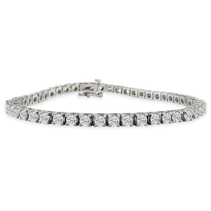 6ct Diamond Tennis Bracelet in 14k White Gold