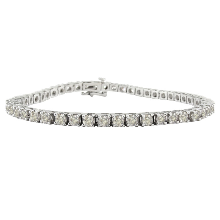 6ct Diamond Tennis Bracelet in 14k White Gold - 8.5""
