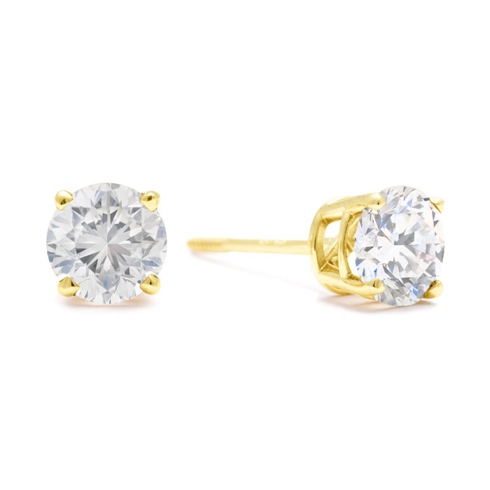 1CT DIAMOND BLOWOUT! 1ct Diamond Pendant in 14k Yellow Gold. UNHEARD OF PRICE! MAKING IN TO 14K YELLOW GOLD EARRINGS WITH SCREW BACKS