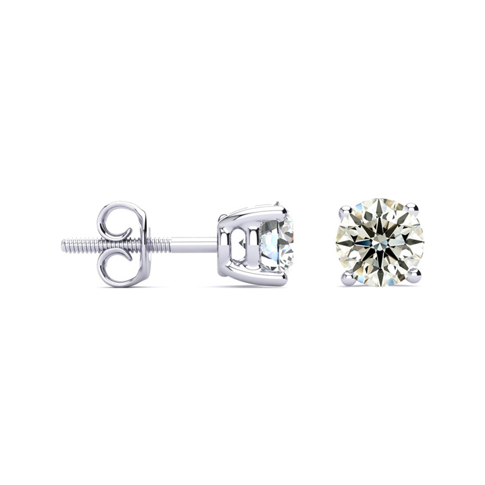 1 1/2ct Diamond Earrings in 18k WG, G/H, VS2/SI1