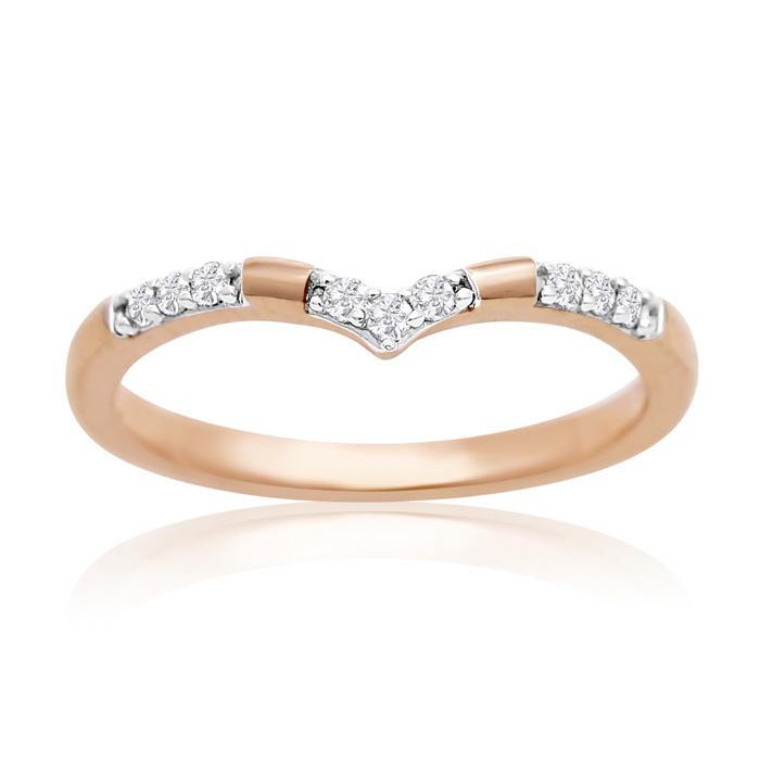 14K Rose Gold 1/10 Carat Diamond Ring