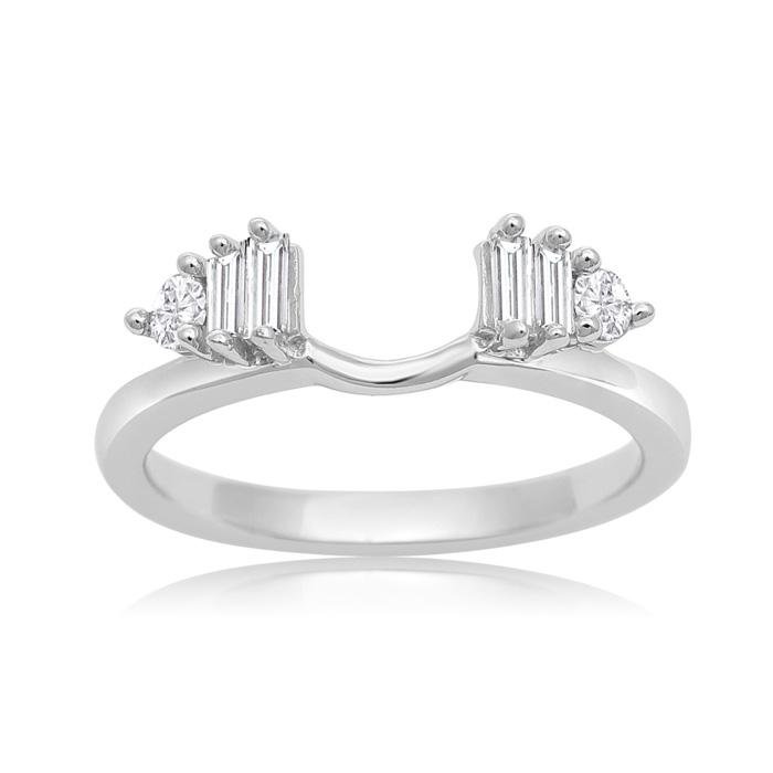 14K White Gold 1/3 Carat Diamond Ring Enhancer