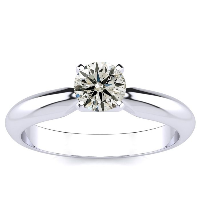CLEARANCE DEAL! 1/2ct Diamond Engagement Ring in 10k White Gold, BLOWOUT