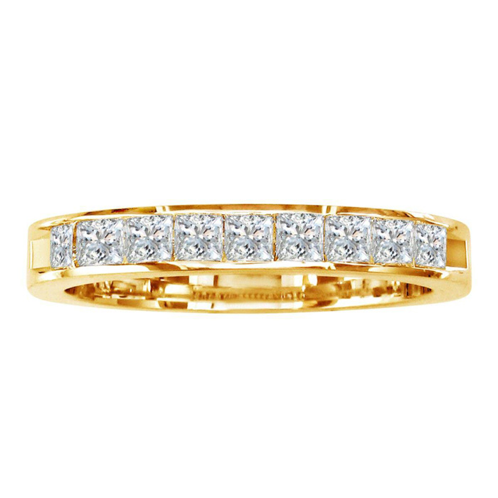 1/4ct Channel Set Princess Diamond Band in 14k YELLOW GOLD