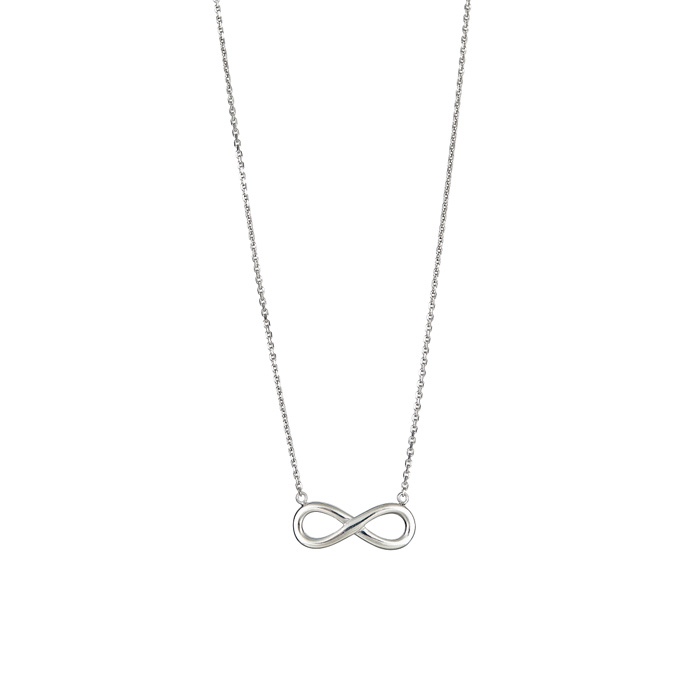 Sterling Silver Classic Infinity Necklace, 18 Inches