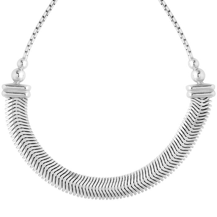 Sterling Silver Adjustable Bead Bracelet with Embellished Bar