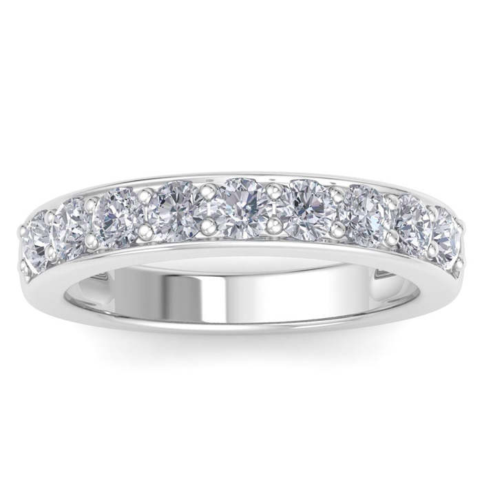1ct Diamond Band in 14k White Gold