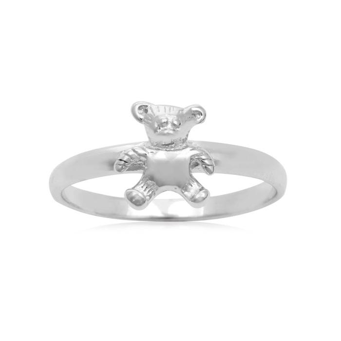 Sterling Silver Teddy Bear Ring