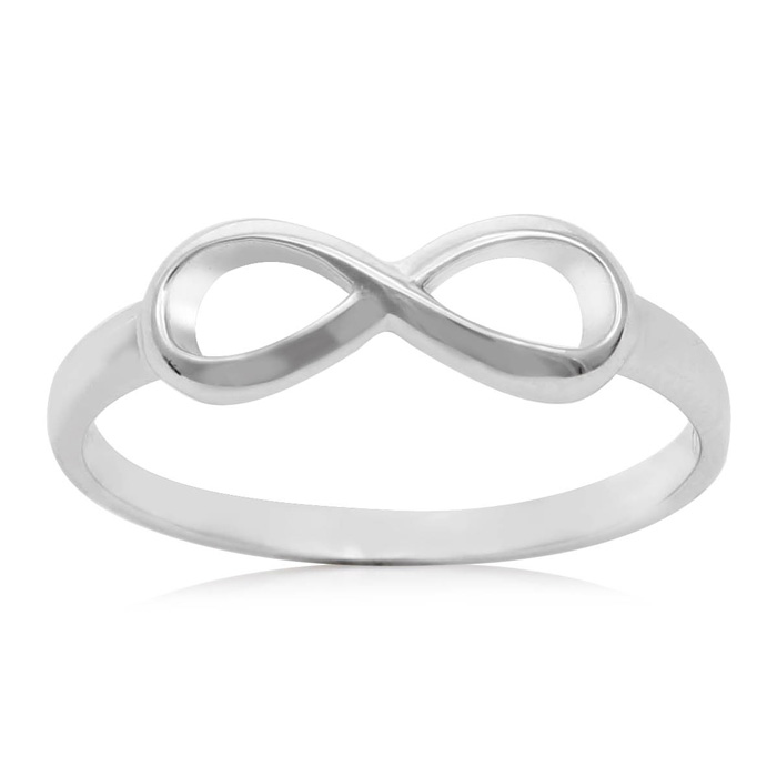 Sterling Silver Eternal Love Infinity Ring