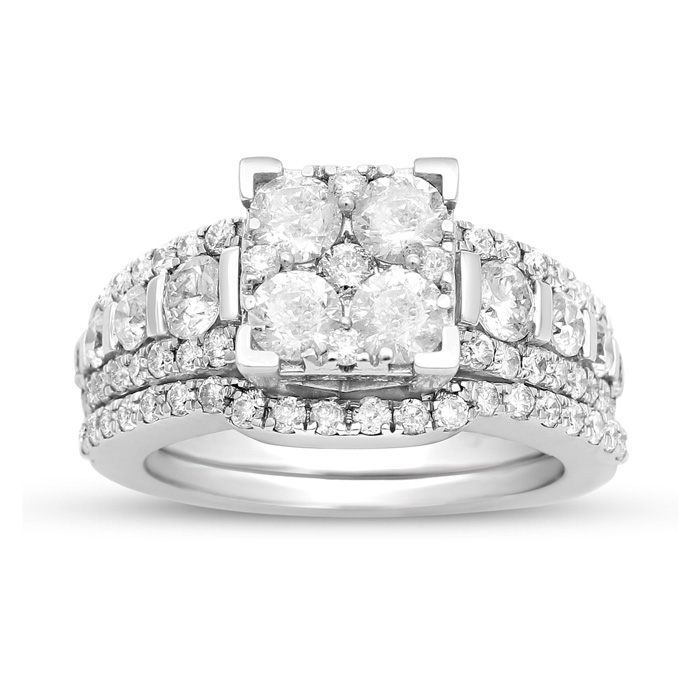 14 Karat White Gold 2.25 Carat Diamond Bridal Set - Only a Few Available!