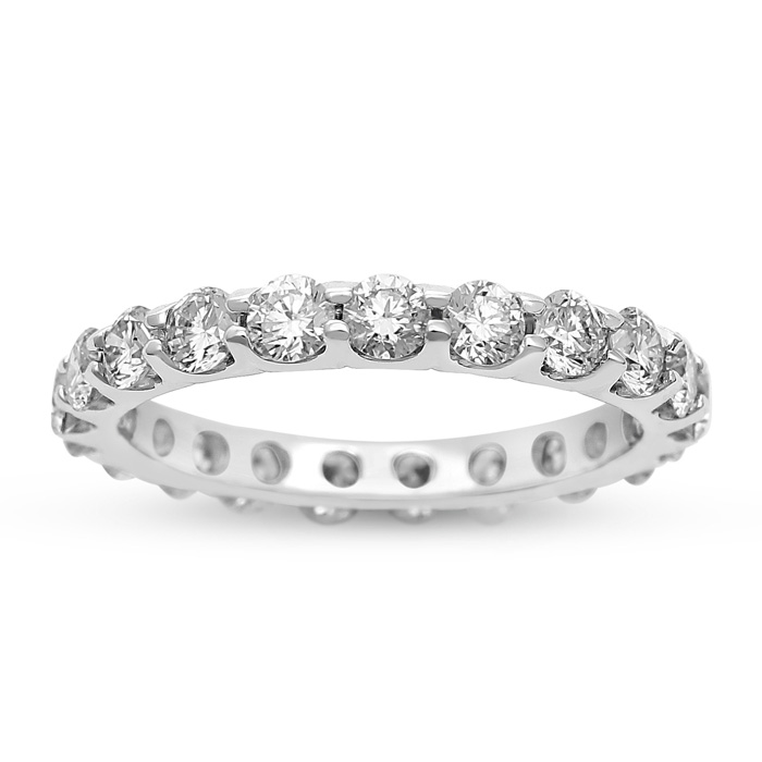 18K White Gold 2 ¼ Carat Diamond Eternity Band (H, VS)