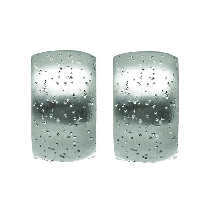 Sterling Silver Stardust Petite Hoop Earrings
