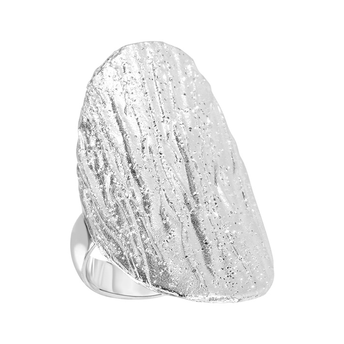 Sterling Silver Stardust Oval Statement Ring