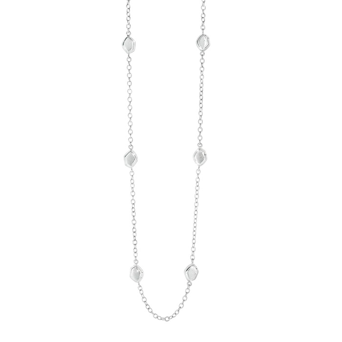 Sterling Silver Delicate Stardust Bead Necklace, 32 Inches
