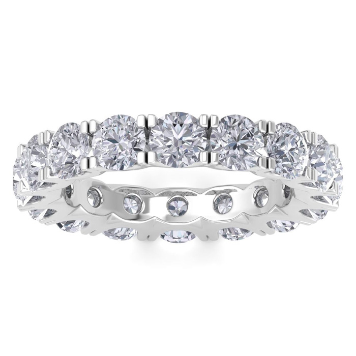 14 Karat White Gold 4 1/4 Carat Diamond Eternity Ring