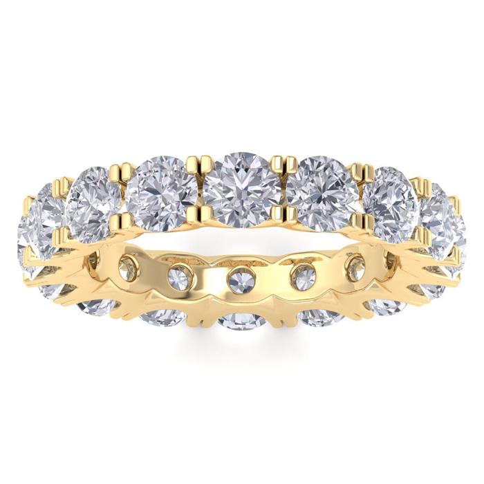 14 Karat Yellow Gold 4 1/4 Carat Diamond Eternity Ring