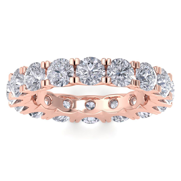14 Karat Rose Gold 4 1/2 Carat Diamond Eternity Ring