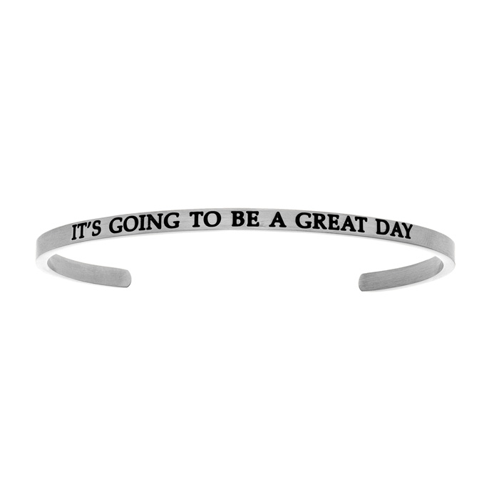 "Silver ""IT'S GOING TO BE A GREAT DAY"" Bangle 22677"