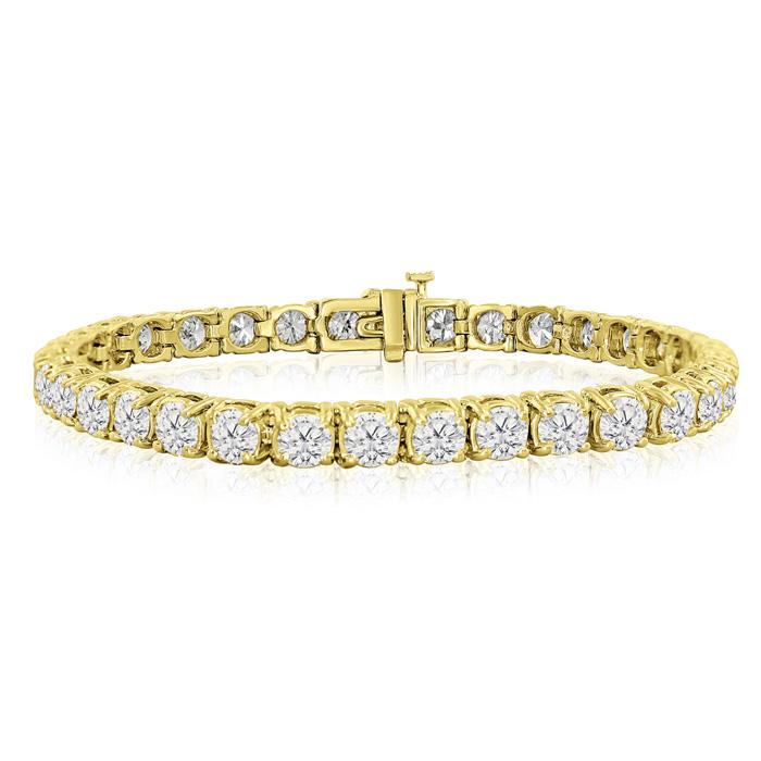 7.5 Inch 9.75 Carat Diamond Tennis Bracelet In 14k Yellow Gold
