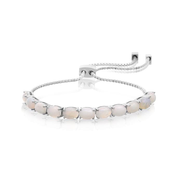 11 Carat Opal Adjustable Slide Tennis Bracelet