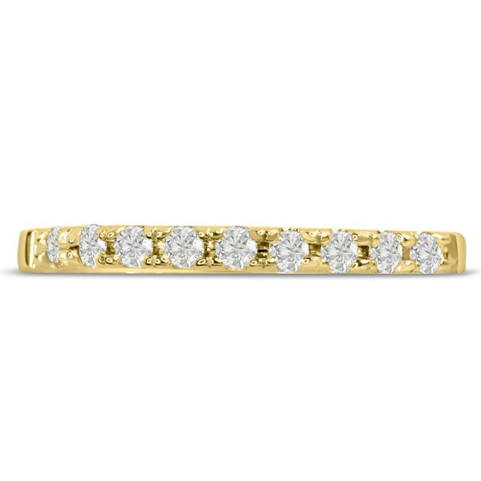 1/4ct Diamond Wedding Band In 14 Karat YELLOW Gold