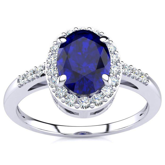 GIA Certified 127 Carat Halo Style Diamond white gold