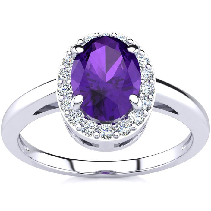 Pearl And Amethyst Cocktail Ring Moonlight (indonesia)