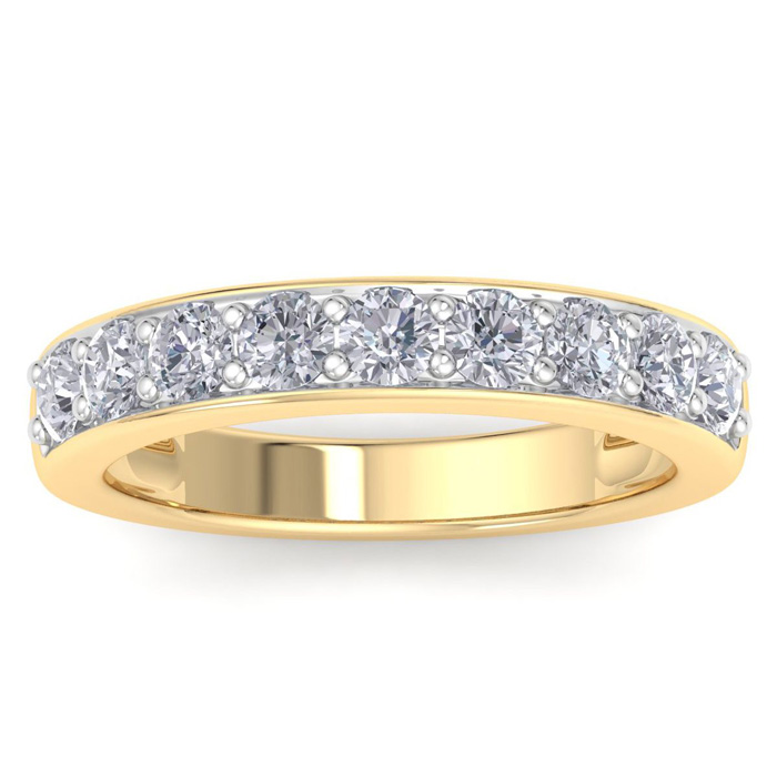 1ct Diamond Band in 14k YELLOW  Gold