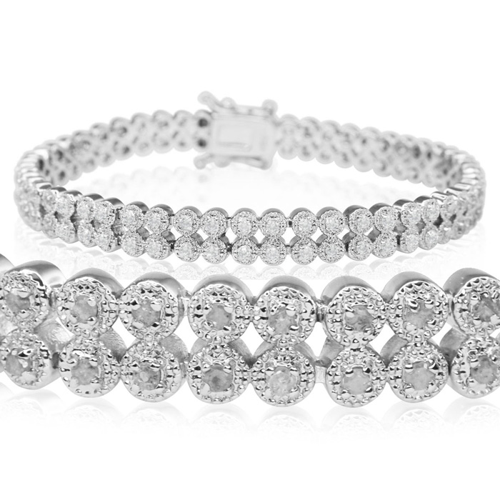1 Carat Diamond Fine Quality Milgrain Antique Model Bracelet, Beautiful