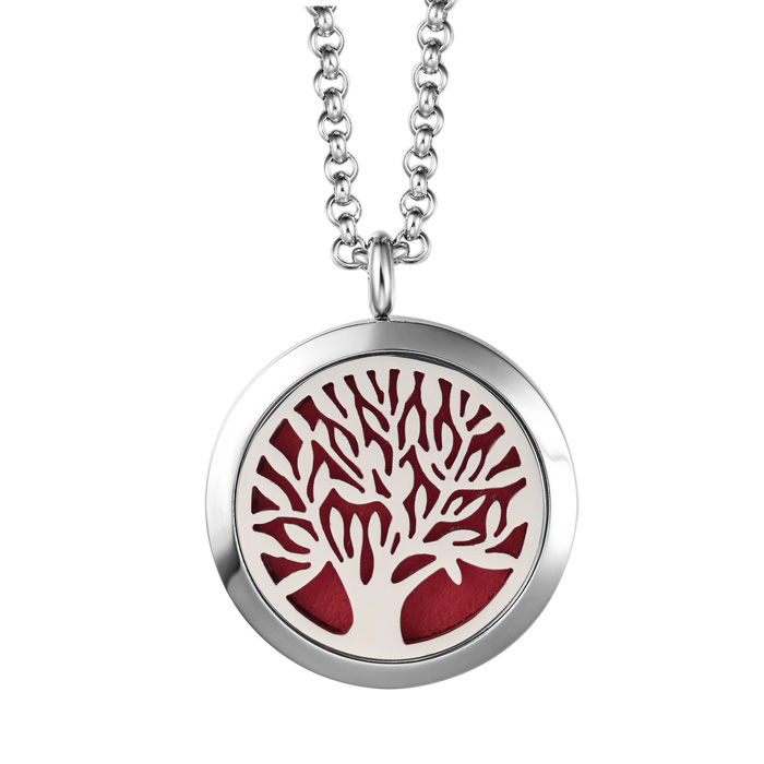 Hypoallergenic Tree Of Life Aromatherapy Essential Oils Diffuser Necklace, P..