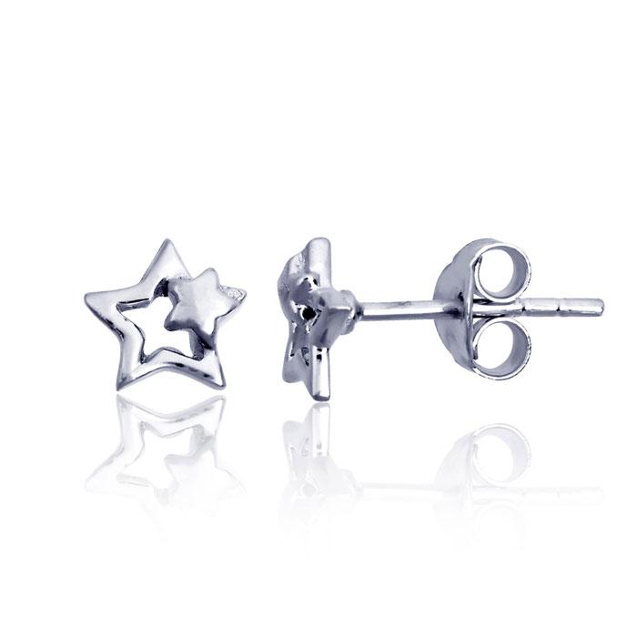 Children's Sterling Silver Shooting Star Stud Earrings