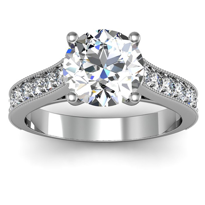 3 Carat Solitaire Engagement Ring With 2.5 Carat Center Diamond In PLATINUM