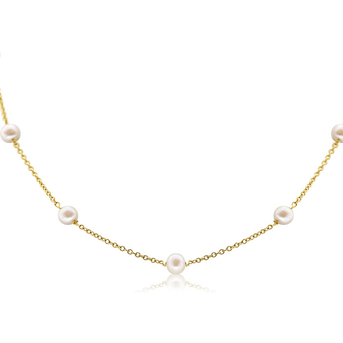 jewelpearl.com view the photo of  10K Yellow Gold Pearls By The Yard Necklace, 18 Inches