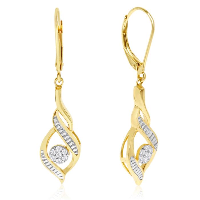1/5 Carat Diamond Designer Drop Earrings